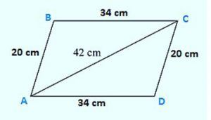 The adjacent sides of a parallelogram ABCD