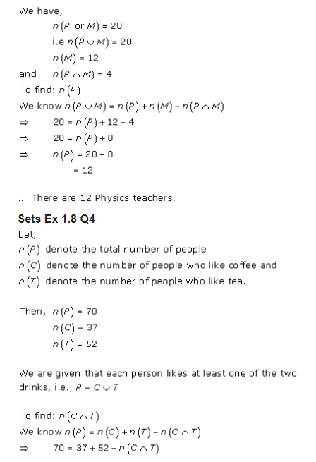 RD Sharma Class 11 Solutions Maths Chapter 1 Sets Exercise 1 8