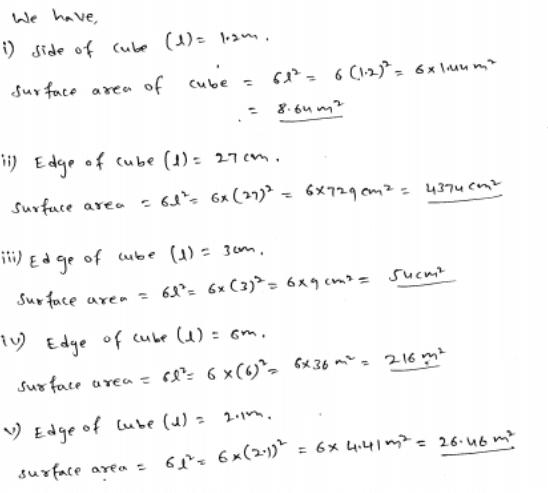 RD Sharma Class 8 Solutions Maths Chapter 21 Volumes