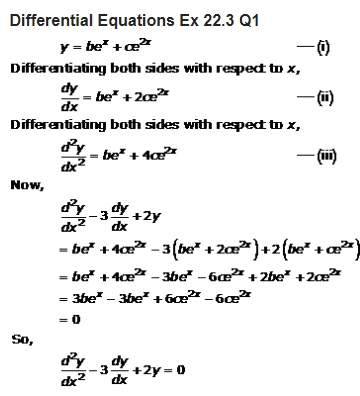 RD Sharma Class 12 Solutions Maths Chapter 22 Differential Equations