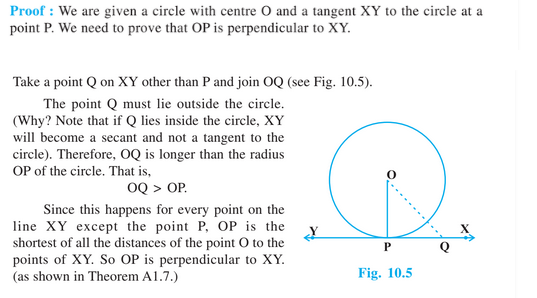 Circles for Class 10-Revision Notes & Key Points, Theorems Proof