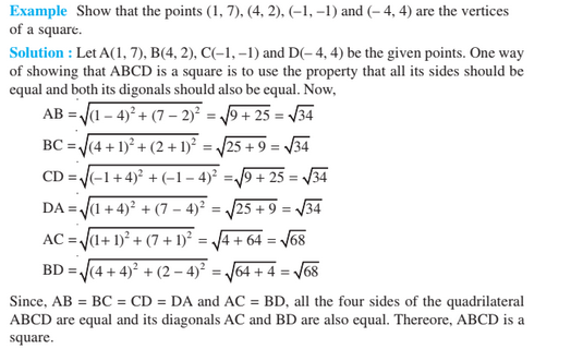 Coordinate Geometry For Class 10- Distance Formula