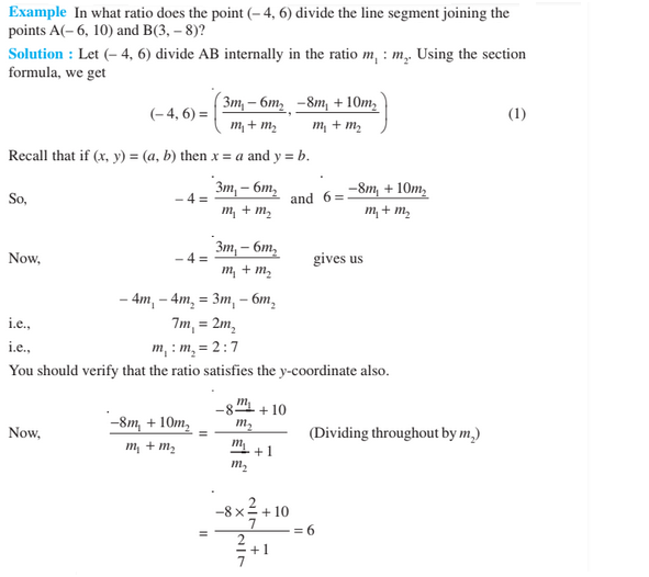 Coordinate Geometry For Class 10- Section Formula