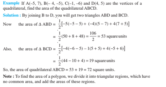 Coordinate Geometry For Class 10- Area of a Triangle