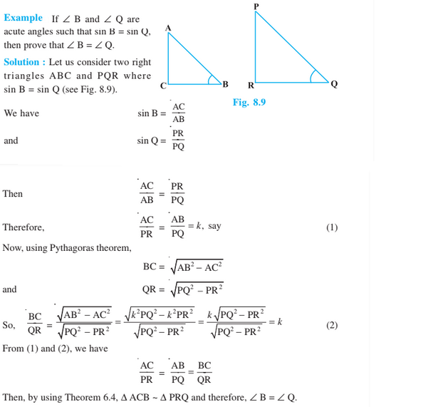 Introduction to Trigonometry Class 10 Chapter 8 Notes
