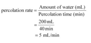 rate of percolation
