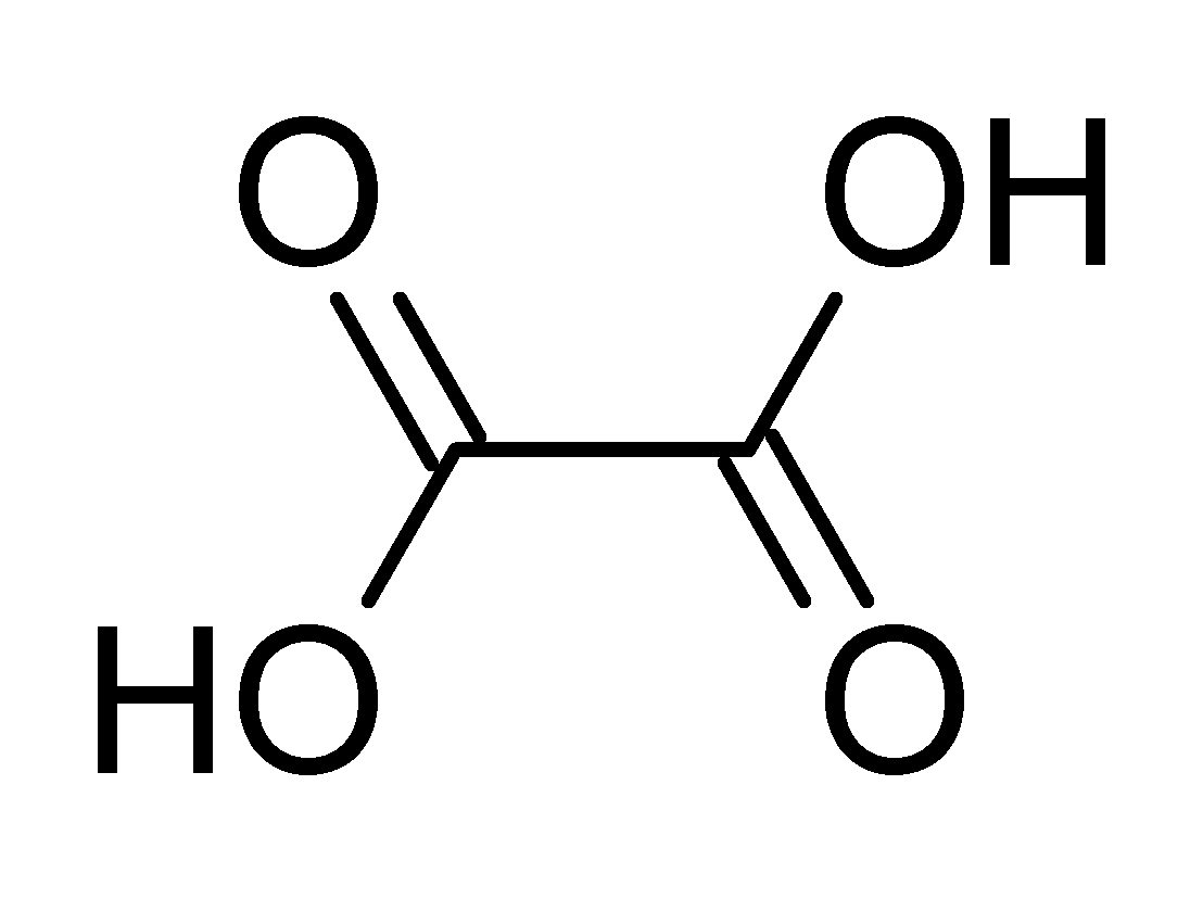 Oxalic Acid Structural Formula