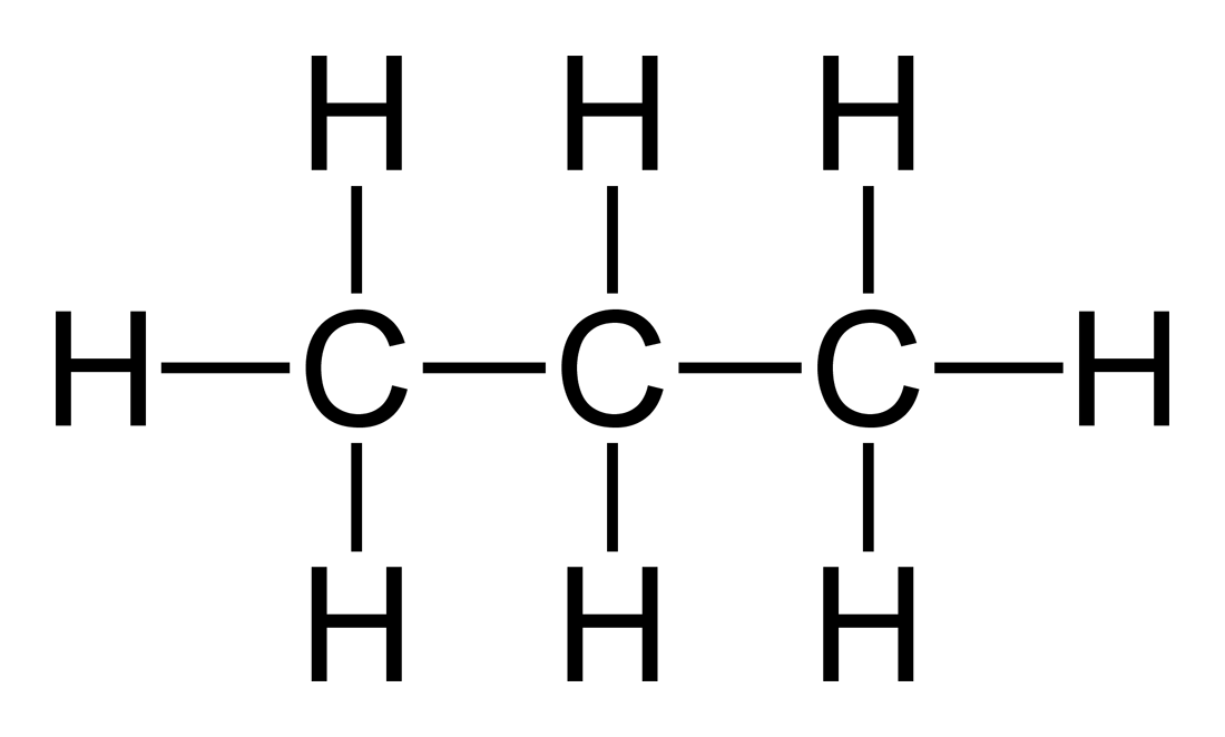 Propane Structural Formula