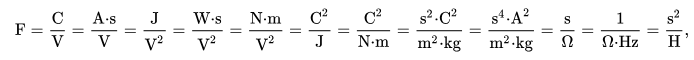 SI Unit of Capacitance