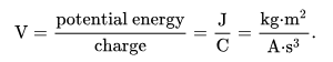 SI Unit of Voltage