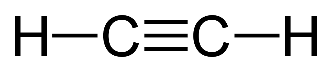 Structural Formula for Acetylene