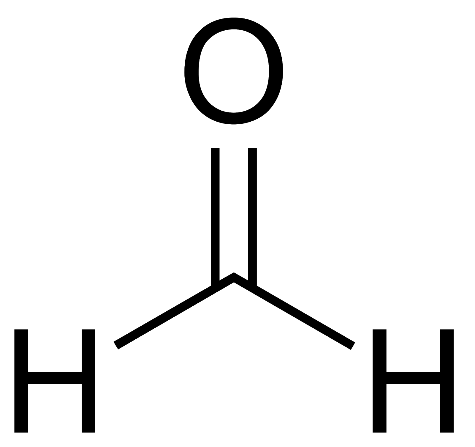 Structural Formula for Formaldehyde