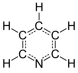 Structural Formula for Pyridine