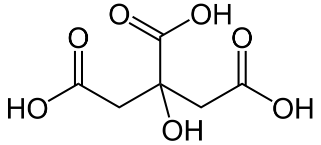 Structural Formula of Citric Acid