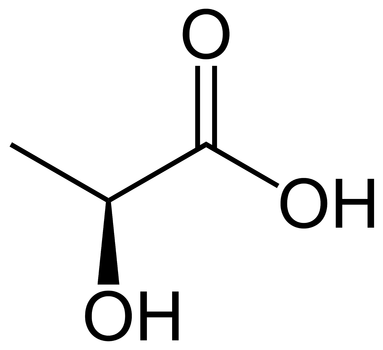 Structural Formula of Lactic Acid