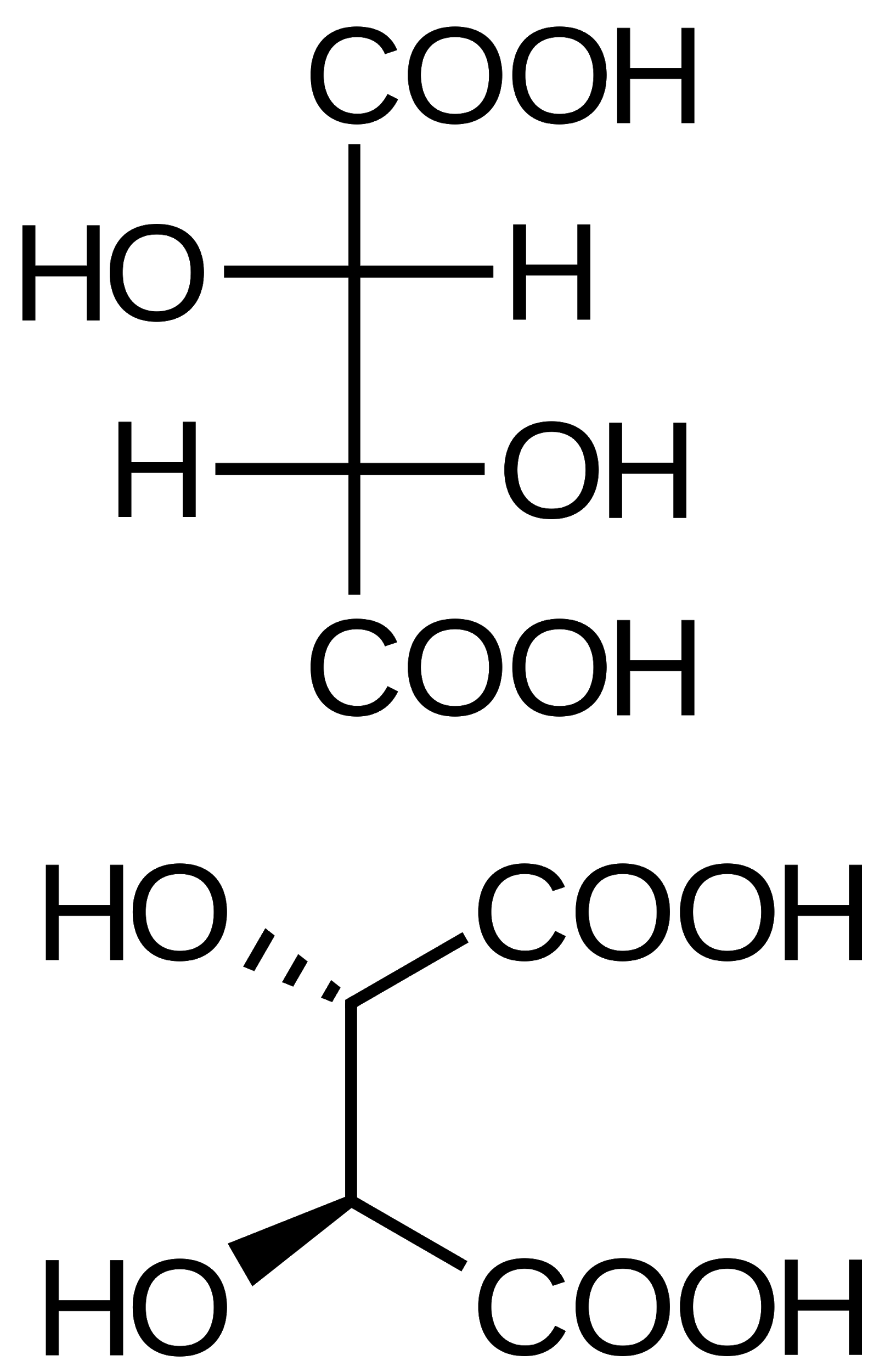 Structure of D-tartaric Acid