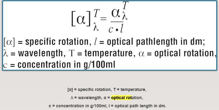 The formula of Optical Rotation