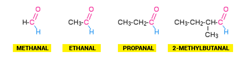 Examples of Aldehydes