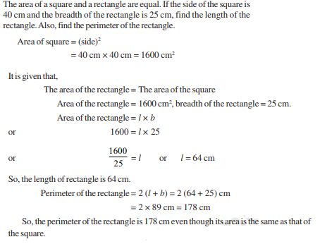 Perimeter and Area Class 7 Notes: Chapter 11