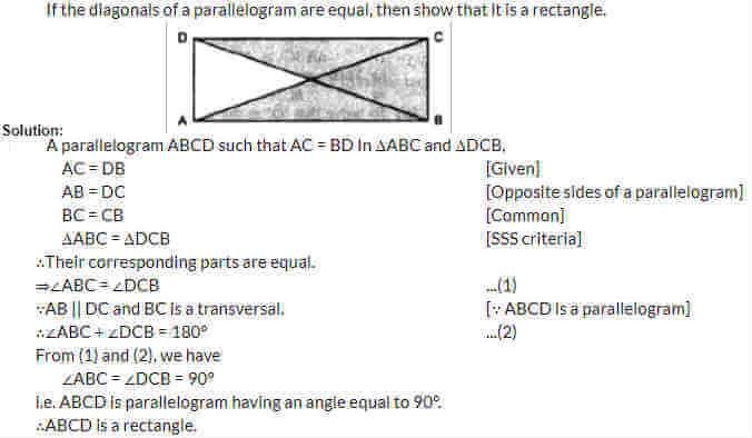 AP Board Class 9 Chapter 8 Quadrilaterals