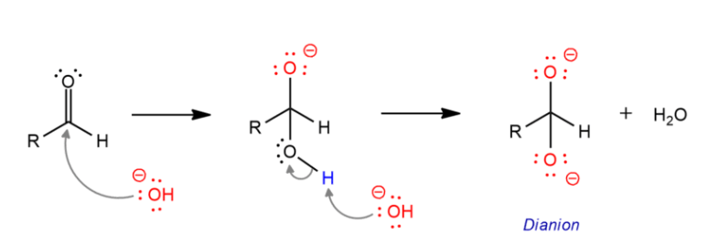Cannizzaro Reaction Mechanism Step 1