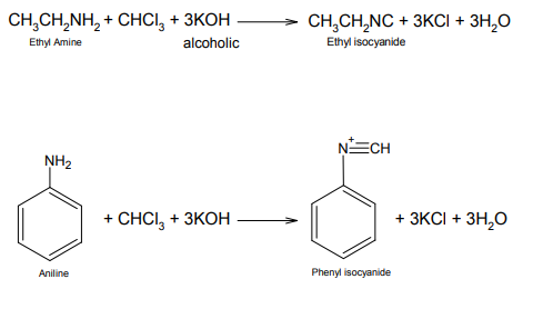 Carbylamine Reaction Mechanism