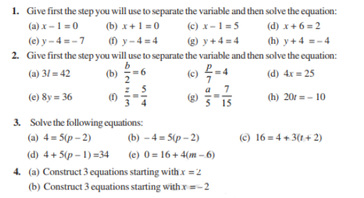 Class 7 Maths Chapter 4 Simple Equations Notes