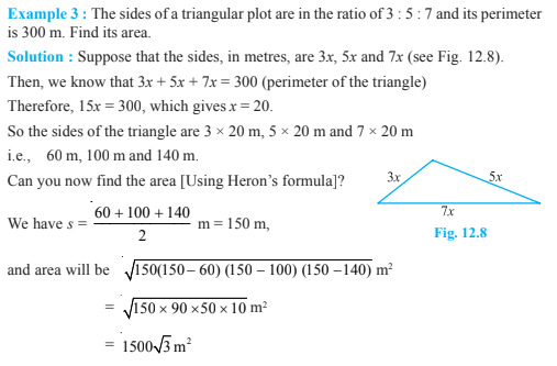 Herons Formula Class 9 Notes Chapter 12