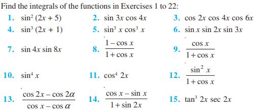 Integrals Class 12 Notes Chapter 7