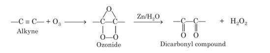 Ozonolysis of Alkynes Mechanism
