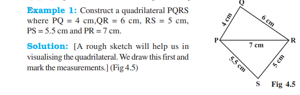 Practical Geometry Class 8 Notes-Chapter 5