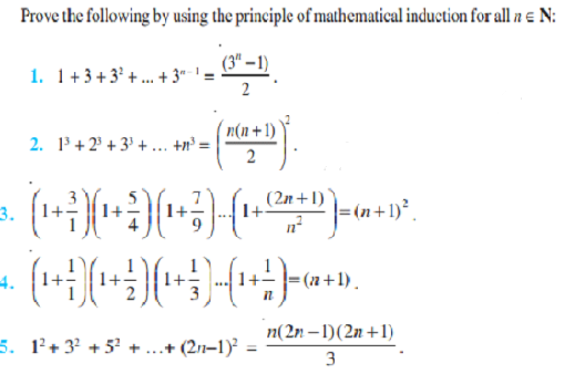 Principle Of Mathematical Induction Class 11 Notes Chapter 4