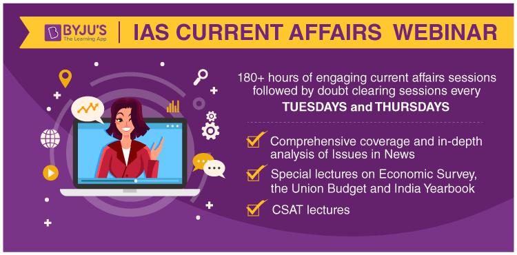 IAS Current Affairs Webinar BYJU'S