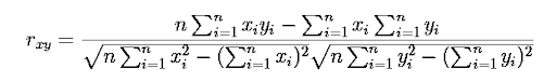 Linear Correlation Coefficient Formula