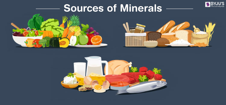 Sources of minerals in food