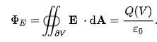Gaussian Surface Formula
