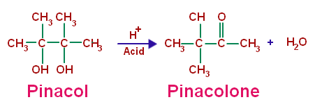 Pinacol Pinacolone Rearrangement Reaction