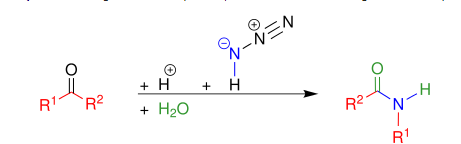 Schmidt Reaction Example for Ketones