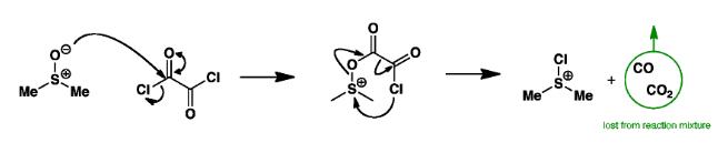 Swern Oxidation Mechanism Step 1