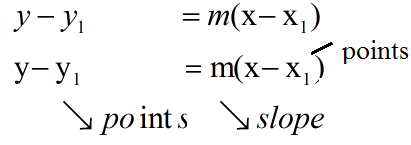 Slope Point form (Equation of a Line with 2 Points)
