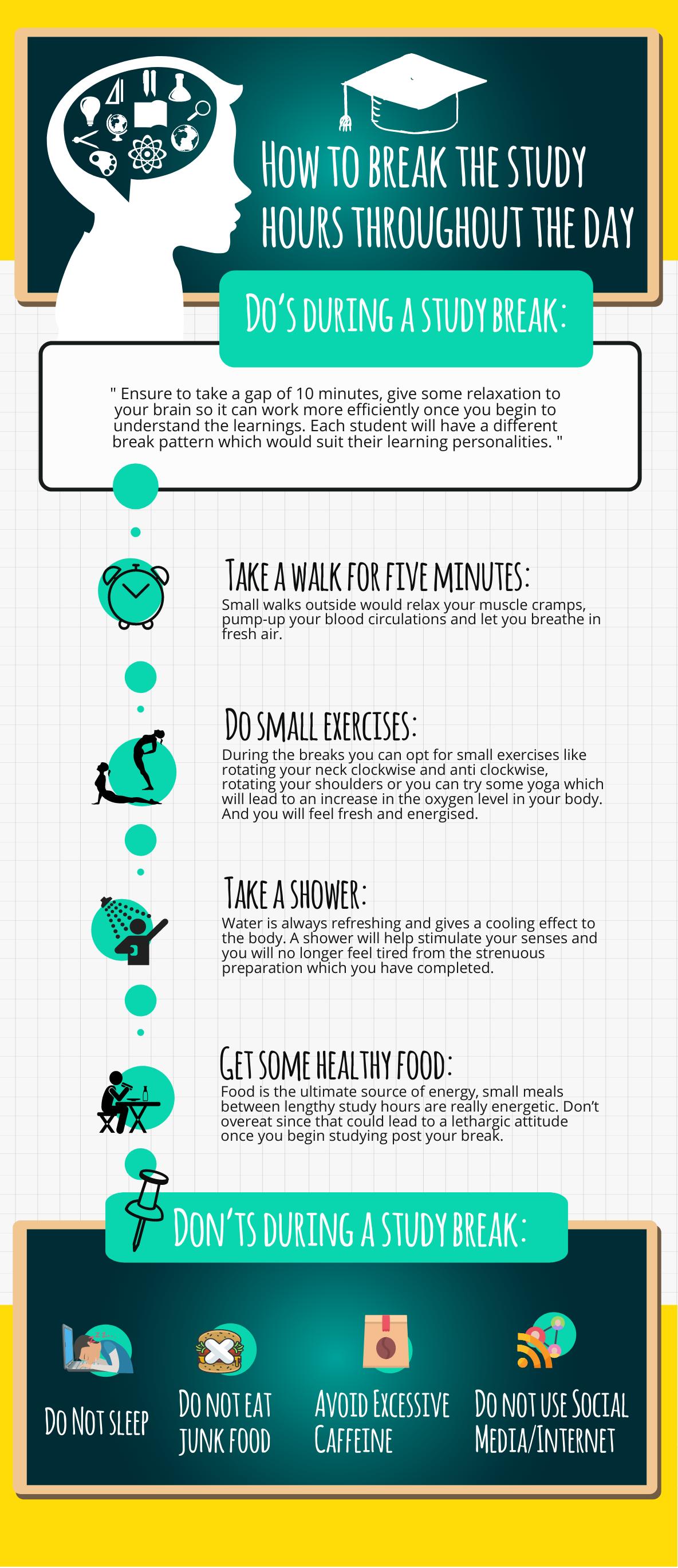 How to take a study break
