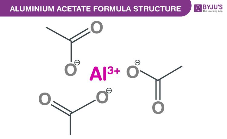 Aluminium acetate Formula