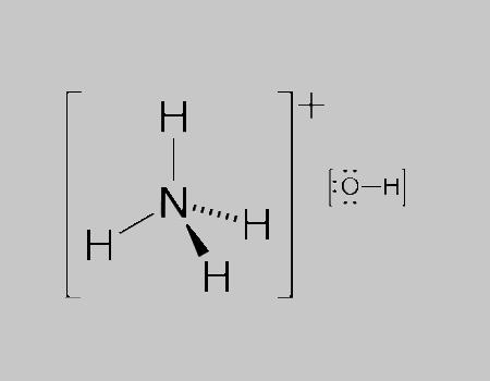 Ammonium Hydroxide Structural Formula