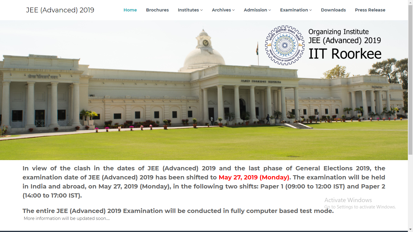Election effect on JEE advanced 2019 examination
