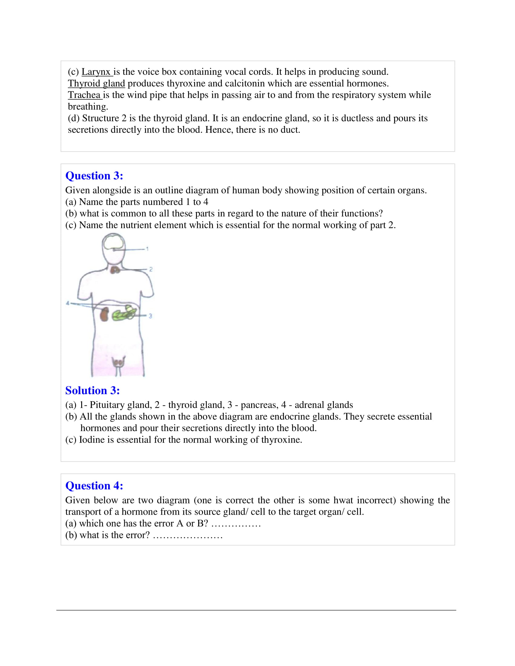 icse-selina-biology-solutions-class-10-chapter-9-endocrine-glands-the-producers-of-chemical-messengers-11