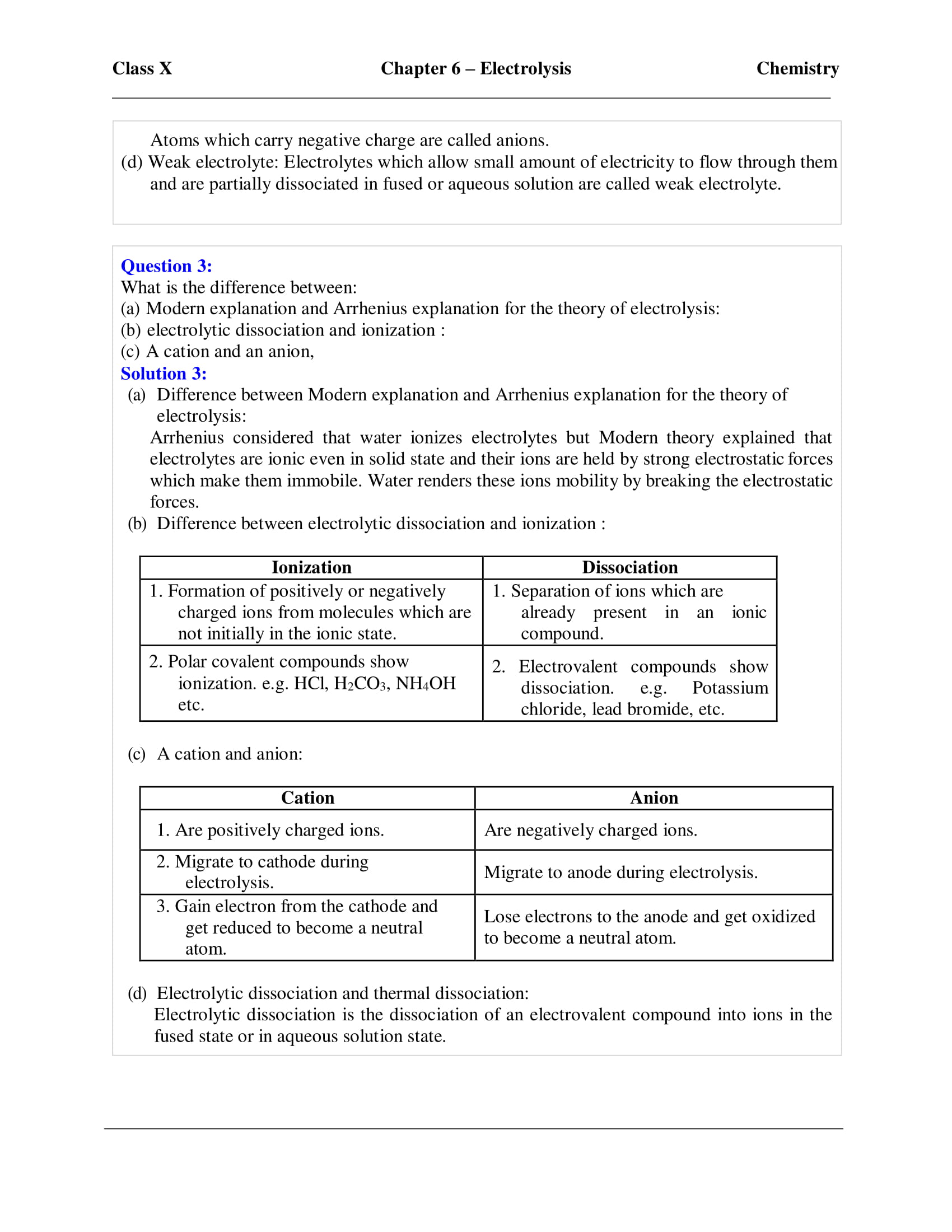 ICSE Solutions For Class 10 Chemistry Chapter 6 - Download PDF