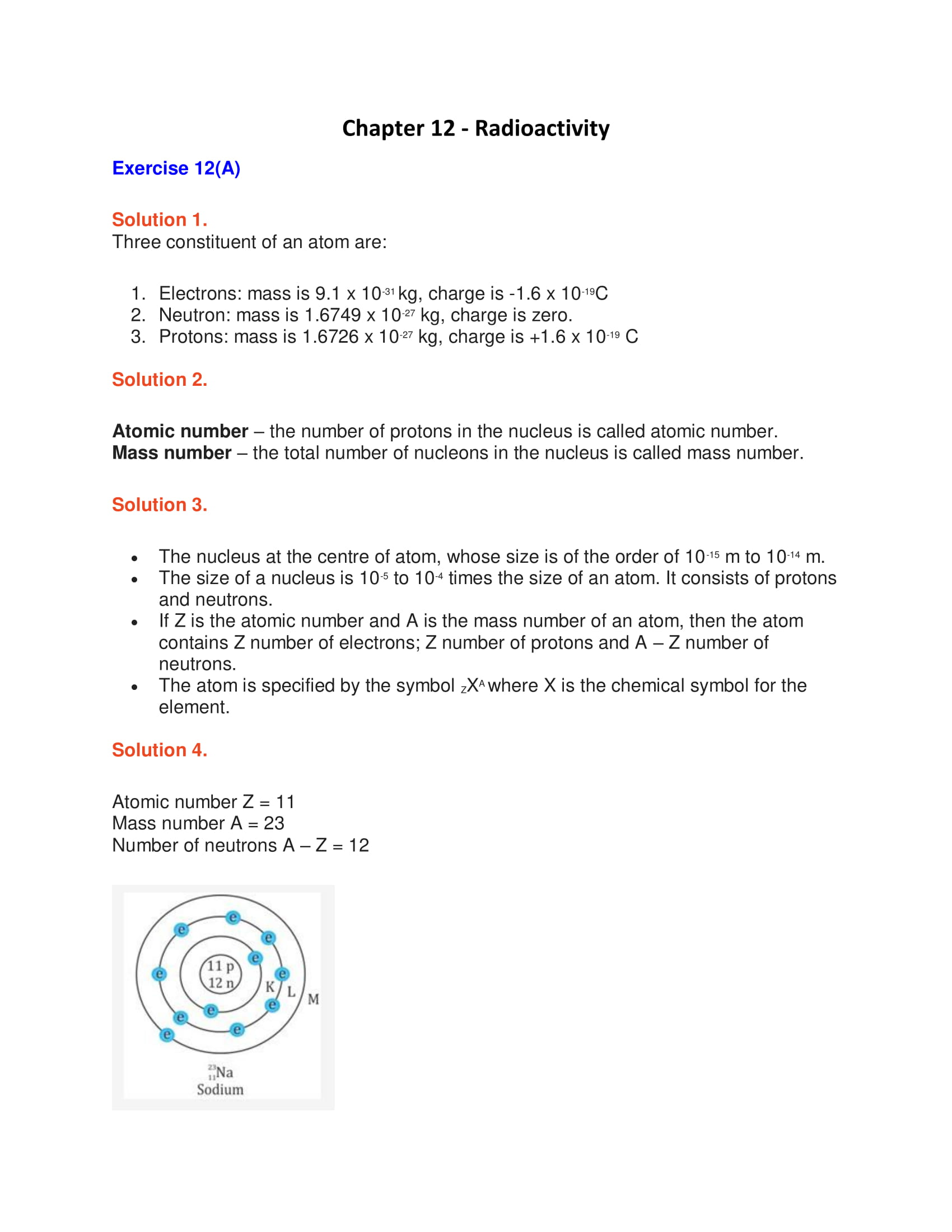 ICSE Solutions Class 10 Physics Chapter 12 Radioactivity - Download