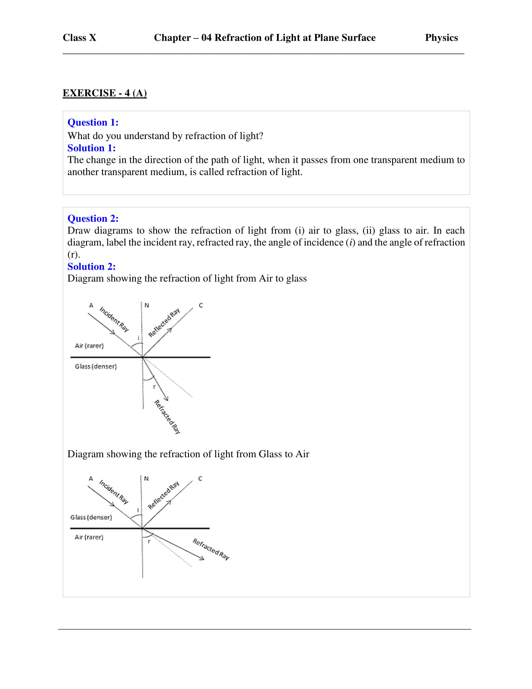 icse-selina-physics-solutions-class-10-chapter-4-refraction-of-light-at-plane-surfaces-01