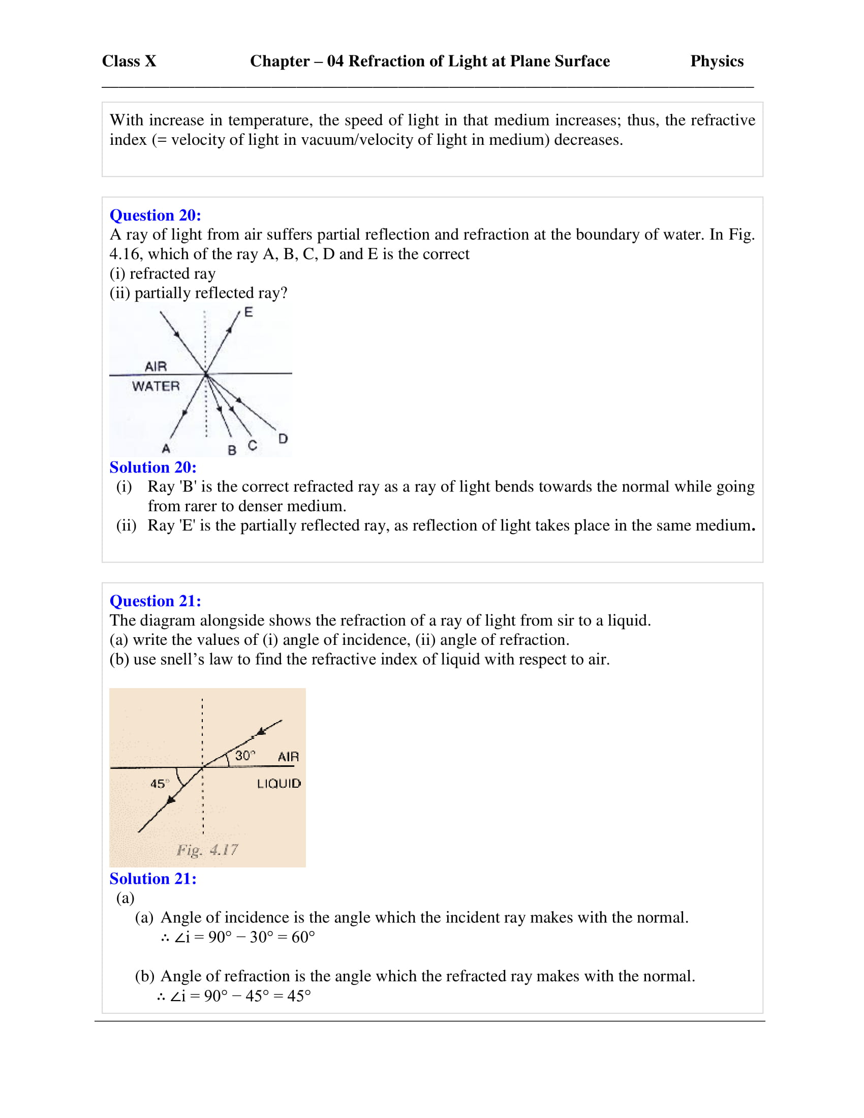 icse-selina-physics-solutions-class-10-chapter-4-refraction-of-light-at-plane-surfaces-06