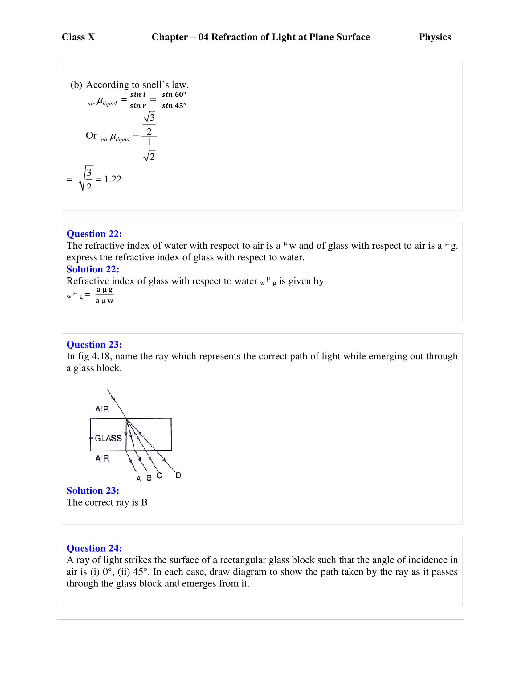 icse-selina-physics-solutions-class-10-chapter-4-refraction-of-light-at-plane-surfaces-07
